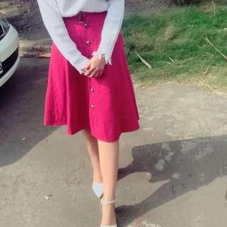 🚚 排扣半身裙 和皮帶