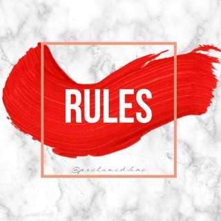 RULES! — @preloved.bae
