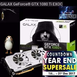 GALAX GTX 1080Ti EXOC White GeForce®. ( Countdown Grand Offer Sales till...31 Dec 17....) Hurry Grab it while Stock Last..!!