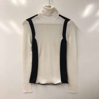 LV louis vuitton tall neck black and white top size XS
