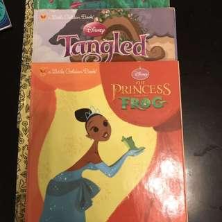 Little Golden Books Disney Tangled Pocahontas Frog Princess hard cover