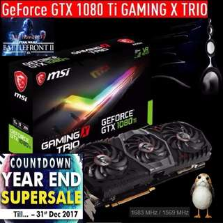 MSI GTX 1080 Ti GAMING X TRIO. ( Countdown Grand Offer Sales till...31 Dec 17....) Hurry Grab it while Stock Last..!!