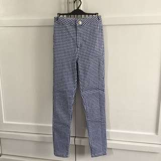 Miss Selfridge Gingham High Waisted Pants