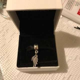 澳洲外購 全新正品 Pandora 天使之翼 majestic feathers silver hanging charm