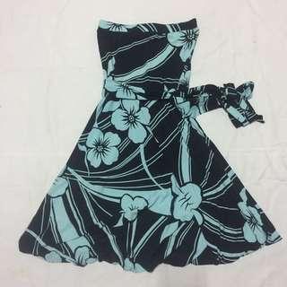 Kimono tube dress