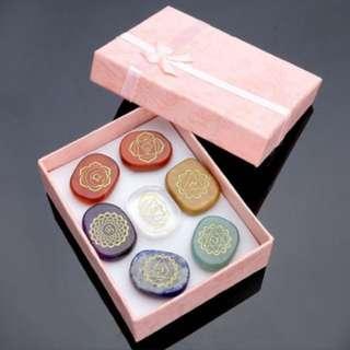 7pcs Natural Reiki Chakra healing balance gemstones stones meditation