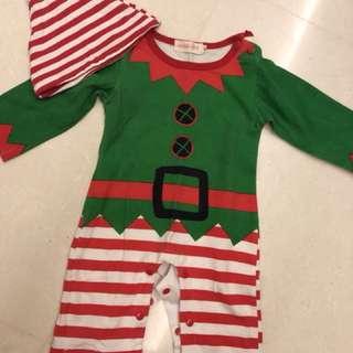 Good condition Elf Christmas Romper