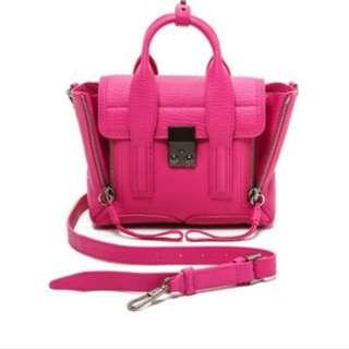 90% new Phillip Lim pashli mini bag (桃紅色)