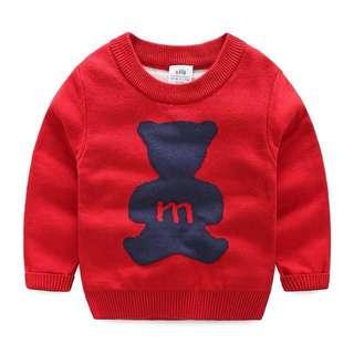 Premium Red Children Boys Sweater