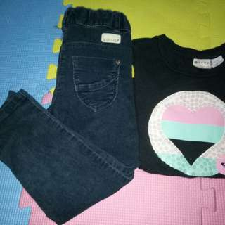 Take all Roxy Top & Mini Co Skinny Jeans(Size 3-4y/o)