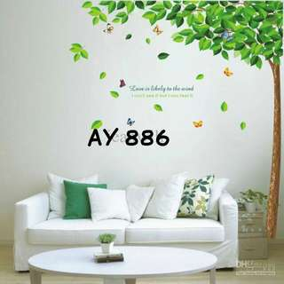 Wall Sticker Uk. 60x90cm Motif Pohon Rindang
