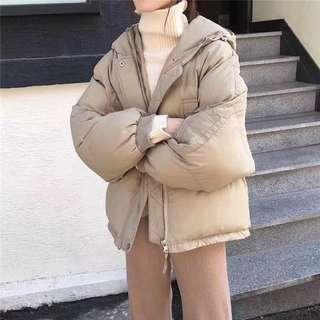 韓國連帽短版鋪棉外套 寒流來襲必備!!!