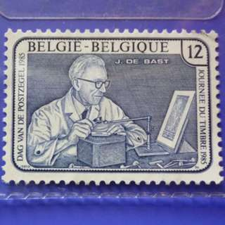 Stamp Belgium 1985 Day of the Stamp 12 Fr