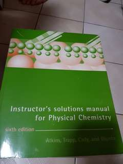 Instructor's Solutions Manual for Physical Chemistry