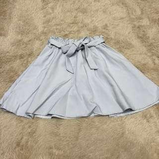 🚚 韓版 紫藕色綁帶氣質裙
