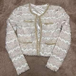 🚚 正韓 Sabrina 小香風格氣質小毛圈開襟外套