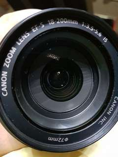 Canon EF-S 18-200mm lens for sale
