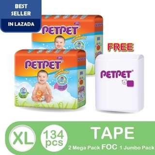 PETPET Mega Pack XL52 (2 pack) FOC PETPET Jumbo Pack XL30 (1 pack)
