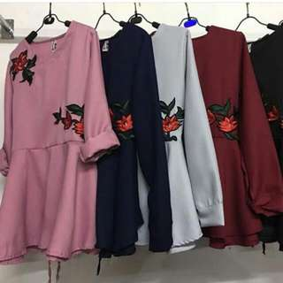 Blouse Patch Flower / Bunga