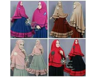 Best Seller !! Set Hijab Bella syari