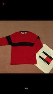 TOMMY HILFIGER 經典 紅藍 針織衫 M