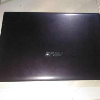 Laptop asus x401U hitam glosy