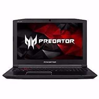 Acer predator helios 300 Laptop for gaming i7-7700HQ CPU, 16GB DDR4 RAM, 256 G SSD, GTX 1060-6GB
