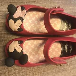 Mini Melissa shoes -Disney-red