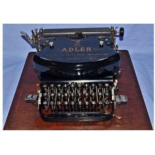 VINTAGE ANTIQUE ADLER NO.7 GERMANY MECHANICAL TYPEWRITER CIRCA 1900S