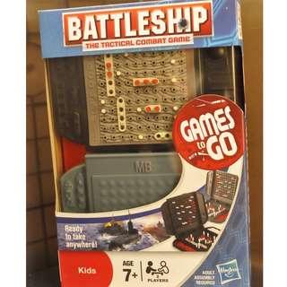 Bnew HASBRO: Games To Go BATTLESHIP Travel Game Set
