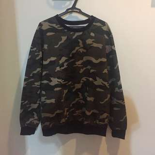 Oversized (THICK) Camo Sweater