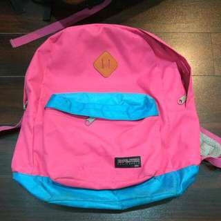 Pink And Blue School Bag