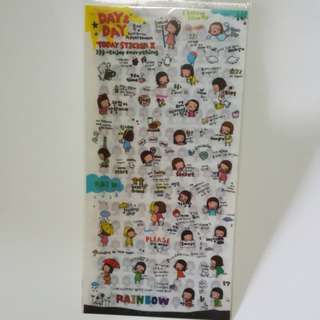 Day day 2 - 6 sheet diary stickers
