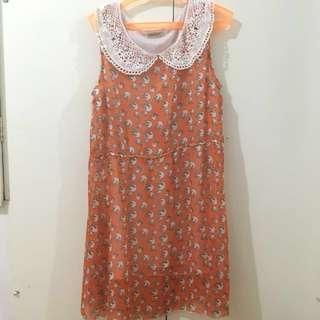 Preppy Orange Dress