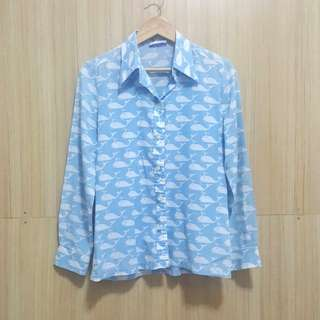 Blue whale long sleeves S-M