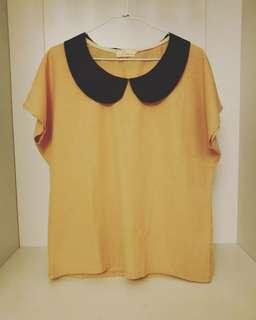 🚚 出清降價📣日系花領藕色上衣 #女裝半價