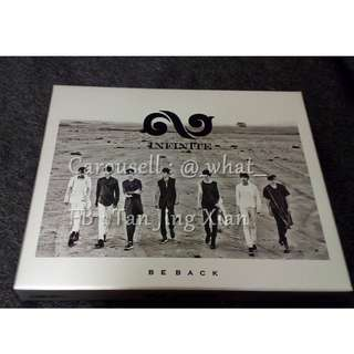 INFINITE BE BACK ALBUM WITH SUNGYEOL PC + SPECIAL LIMITED PHOTOBOOK