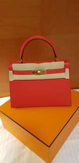 HERMES KELLY 28 FRESH FROM STORE - ROUGE TOMATE IN EPSOM SELLIER IN GHW