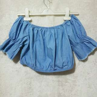 Bershka Denim Croptop