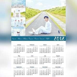 BTS 2018 Calendar (V Version)