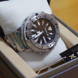 Seiko SRP637 Prospex Automatic Watch (Baby Tuna) 精工自動錶 Baby吞拿 Monster 鋼錶帶 送Nato錶帶 (NOT Rolex, Breitling, Panerai, G Shock)