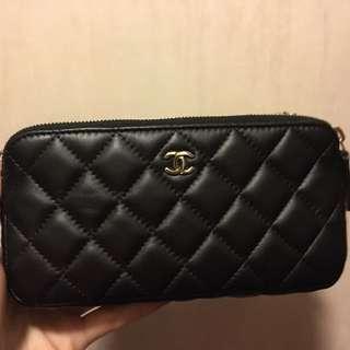 Chanel double zip woc