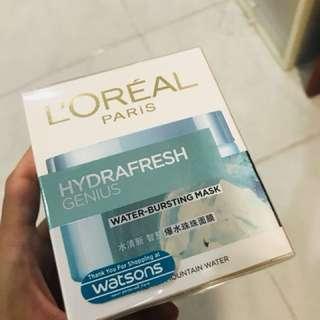 L'Oréal Hydrafresh Genius Water bursting mask