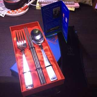🚚 德國雙人牌 餐具組 筷 匙 叉