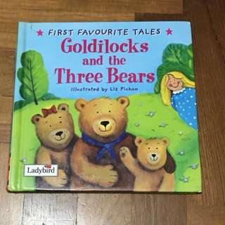 Kids book Goldilocks and the three bears