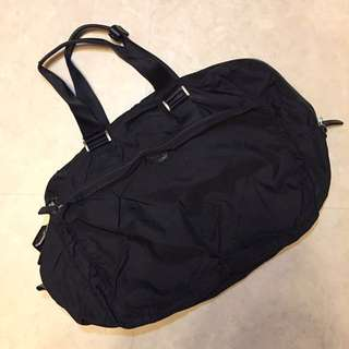Agnés b 經典黑色Voyage旅行袋