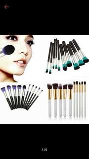 10 Makeup Brush set