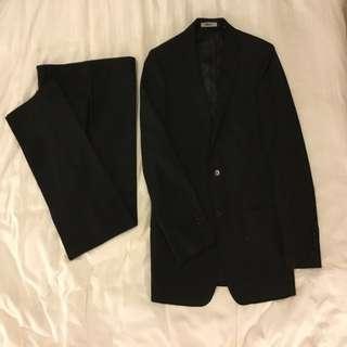 DKNY Classic Black Wool Suit Set 西裝全套