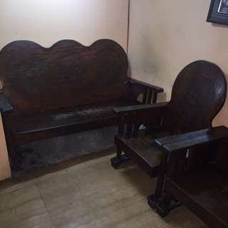 NARRA LIVING CHAIRS AND TABLE
