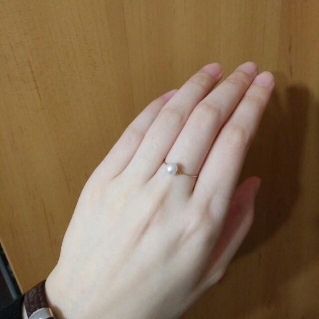 兩件九折。致芭蕾舞者。氣質簡約圓潤珍珠戒指